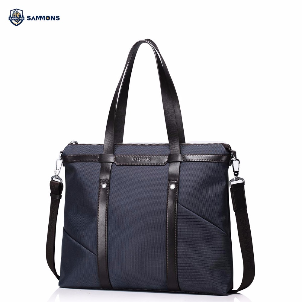 купить SAMMONS Brand Design Fashion Casual Waterproof Nylon Men Briefcases Handbag Shoulder Crossbody Laptop Bags недорого