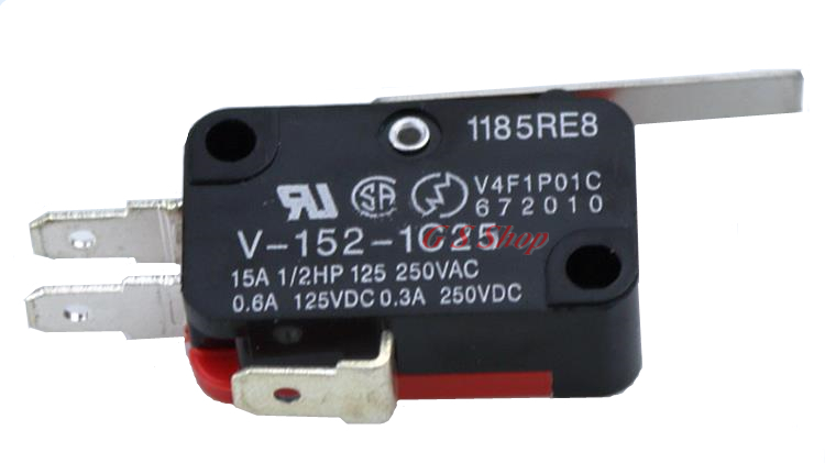 10X V-15-1C25 15A Micro Limit Switch Button SPDT Momentary Snap Action