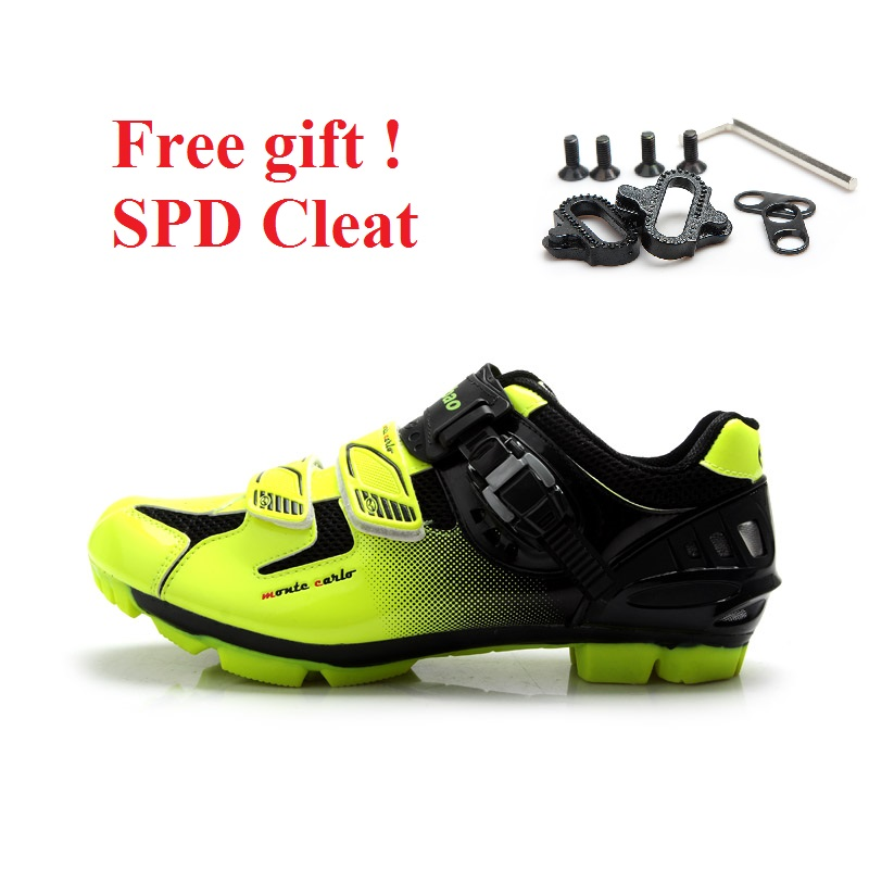 TIEBAO cycling shoes lightweight MTB shoe indoor spinning shose self locking bicycle shoes men Breathable Mountain