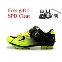 Tiebao サイクリングシューズ軽量 MTB 靴屋内スピニング shose 自己ロック自転車靴男性通気性マウンテンバイク靴 -