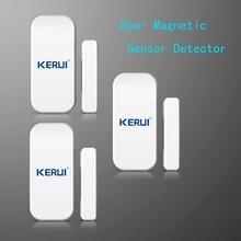 3pcs/lot Wireless Door Magnetic Sensor Detector For Touch Keypad Panel GSM PSTN Home Security Burglar Voice Alarm System