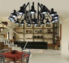 Modern 9/16 luz pingente breve ferro personalizado aranha retrátil abajur casa decoração arte lâmpadas 110 – 240 V luminárias