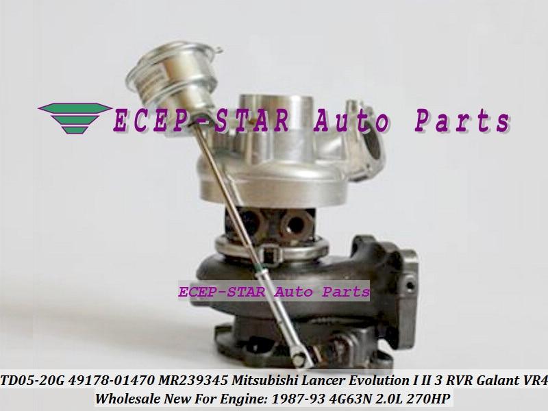 TD05-20G 49178-01470 4917801470 MR239345 Turbo For Mitsubishi Lancer Evolution I II III RVR Galant VR4 1987-93 4G63N 2.0L 270HP (2)