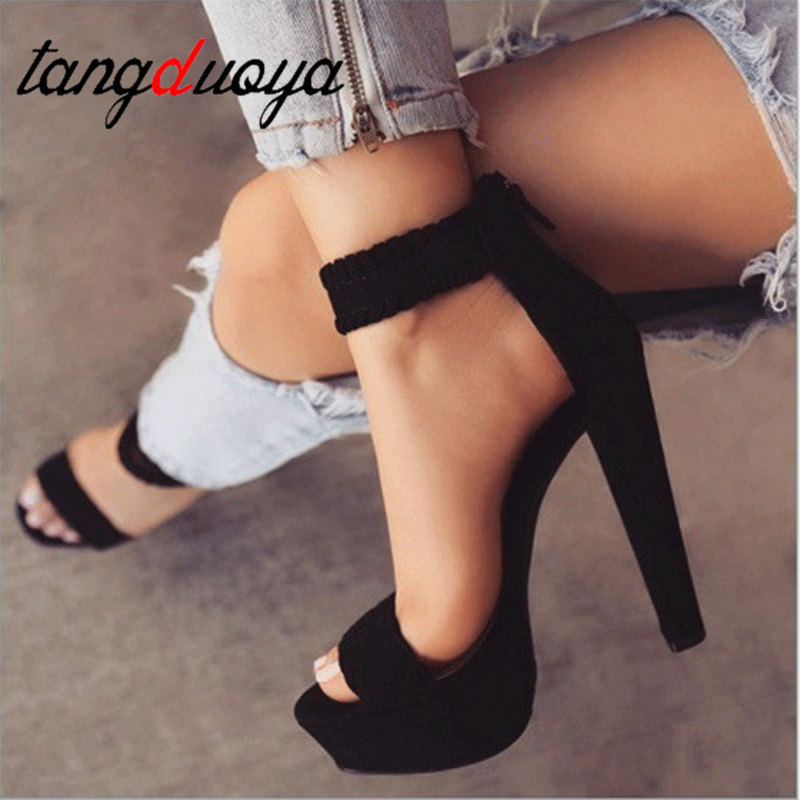 2019 Spring And Autumn New European And American Thick-soled Super-heeled Waterproof Platform Womens Sandals 14cm 2019 Spring And Autumn New European And American Thick-soled Super-heeled Waterproof Platform Womens Sandals 14cm