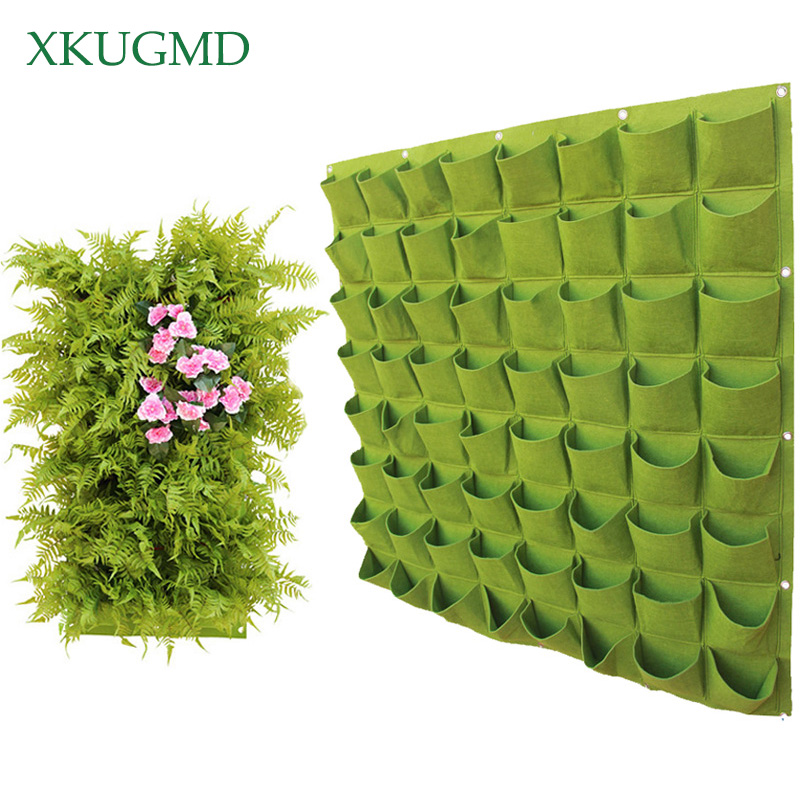 Wall Hanging Planting Bags 4/9/18/49/72 Pockets Green Grow Bag Planter Vertical Garden Vegetable Living Garden Bag Home Supplies