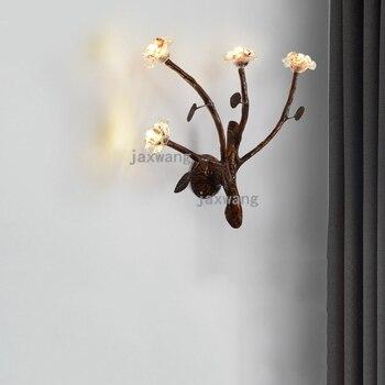 الحديثة وحدة إضاءة LED جداريّة مصباح غرفة المعيشة غرفة نوم السرير فروع الجدار مصابيح مطعم مقهى الجدار أضواء ديكور المنزل تركيبات الصناعية