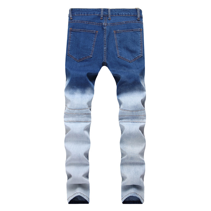 2018 New products Mens red Shantou jeans cotton youth Elasticity printing Casual Top quality jeans 36 38 40 42
