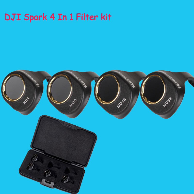 Newest Spark lens Filter 4Pcs ND4/8/16/32 Lens Filter Kit For DJI Spark Snap on Filters Set for DJI SPARK Drone Accessories