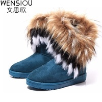 Winter Women Snow Boots Warm Fur Comfortable Casual Shoes Footwear Flat Female Fashion Round Toe Solid