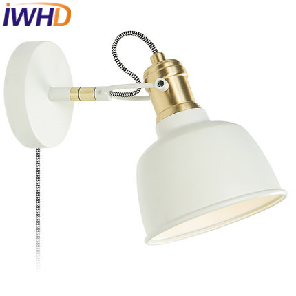 IWHD Iron Arm Sconce Led Wall Light Up Down Angle Adjustable Wall Lamp Home Lighting Fixtures Bderoom Stair Lamparas de Pared 10pcs lot 10w led indoor wall lamp surface mounted outdoor cube lamparas de pared white up and down wall light for home lamp