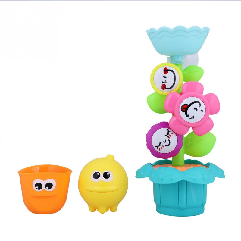 Baby Bath Toy Cartoon Flowers Shower Toys ABS Pastic 2018 Summer Bathroom Beach Water Bath Playing Water Toys Gifts For Children
