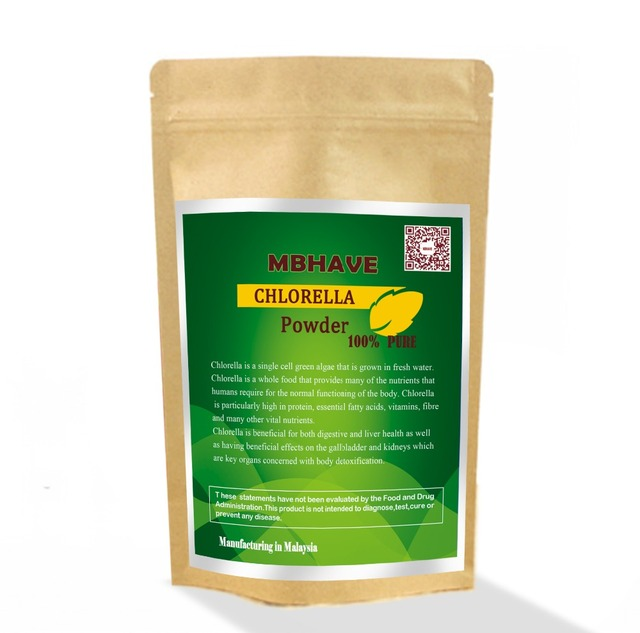 Organic Chlorella Powder Organic Food Fed Certified not Tablets Pure Cell Wall