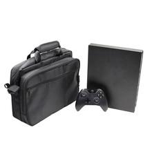 Srtap de armazenamento zíper saco de Viagem ao ar livre mochila no ombro portátil de Proteção Caso Bolsa de Transporte Para Xbox One X pacote de Consola de jogos