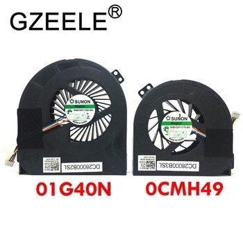 GZEELE nuevo ventilador de refrigeración de la CPU para Dell Precision M4700 CPU GPU Fans refrigerador 01G40N 0CMH49 MG60120V1-C170-S9A MG60150V1-C030-S9A Fan