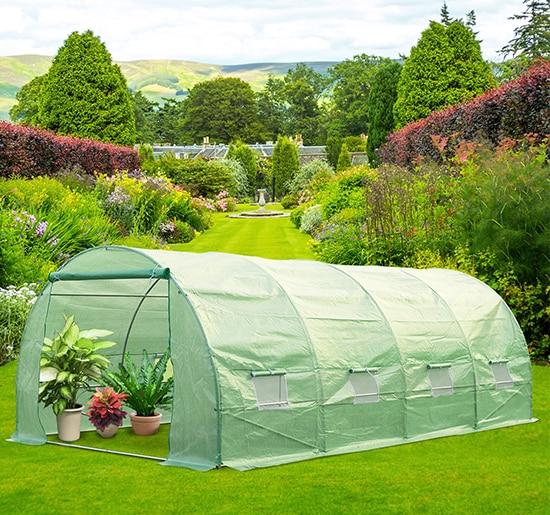 Us 346 53 Outsunny Invernadero Caseta 600 X 300 X 200 Cm Para Jardin Y Terraza Cultivo De Plantas Y Semillas In Garden Greenhouses From Home