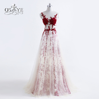 2017 New Fashion Long Prom Dresses Robe De Soiree Sexy Transparent Tulle Open Back Formal Evening