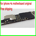 100% bien y buen trabajo para el iphone 4s mainboard, 16g abierto original para iphone 4s placa base con chips libre gratis
