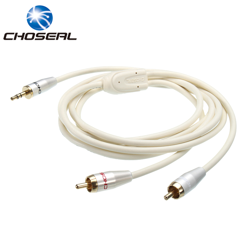 Choseal QS3403 RCA Cable 3.5mm Jack To 2RCA Male To Male Aux Audio Cable For Edifer Speaker MP3/MP4 DVD Player Mobile Phone ...
