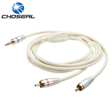 Choseal QS3403 RCA Cable three.5mm Jack To 2RCA Male To Male Aux Audio Cable For Edifer Speaker MP3/MP4 DVD Participant Cellular Cellphone
