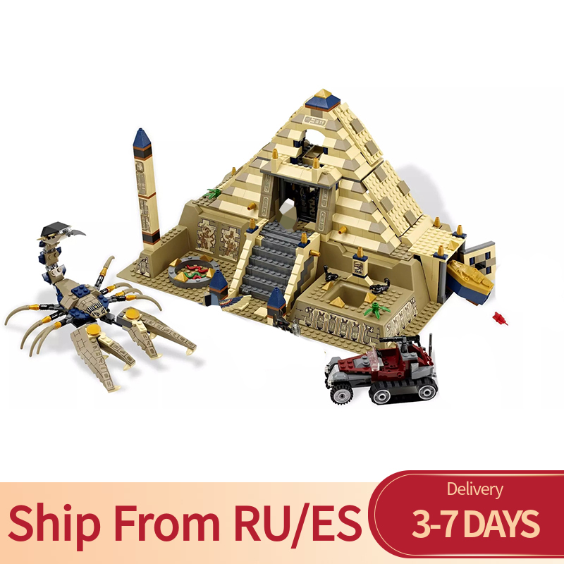 Creator Series 822 PCS Scorpion Pyramid Ancient Egypt Real Model Figures Bricks Building Blocks Toys Compatible