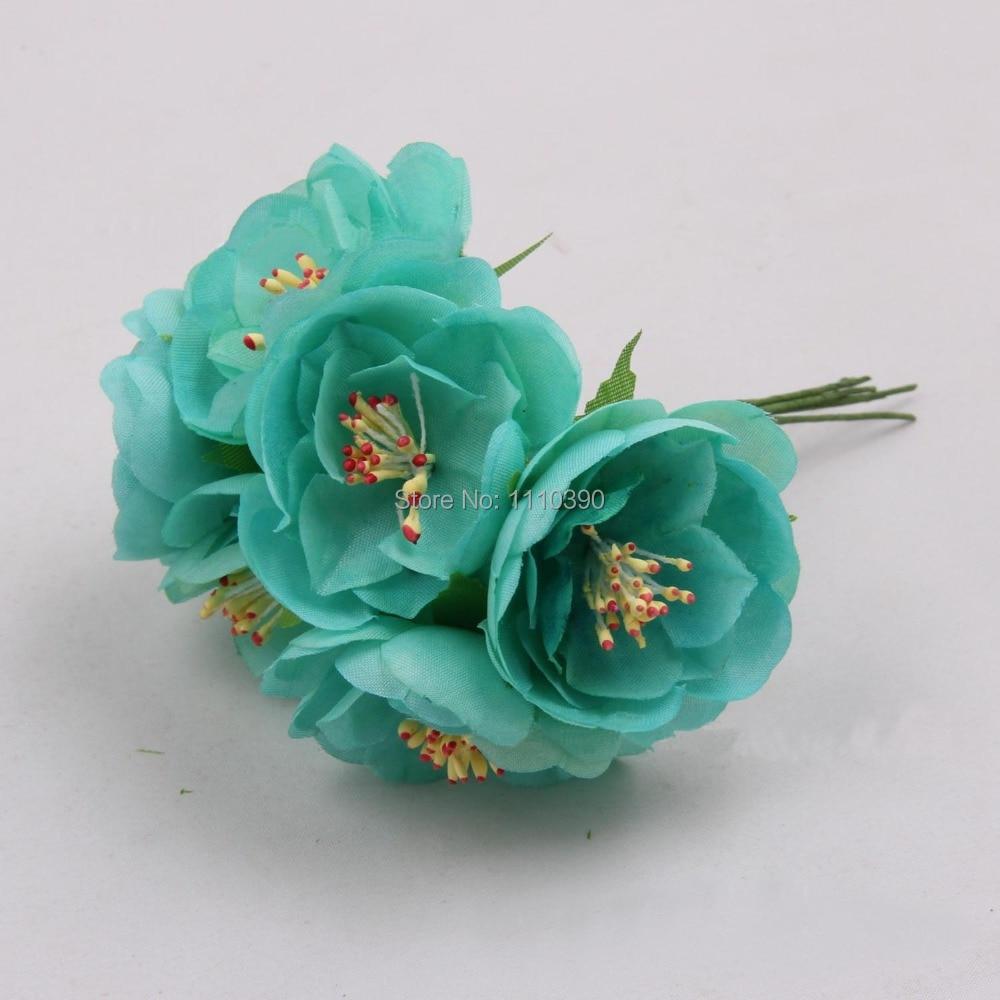 5cm Artificial Camellia Fabric Flowerssilk Camellia Brooch Bridge