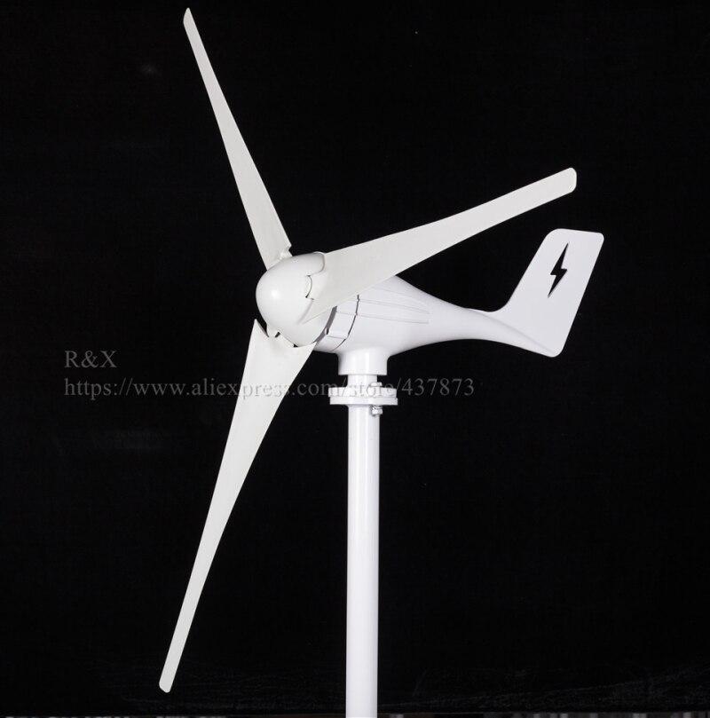 400W AC horizontal axis wind turbine generator 12V/24V and MPPT wind power  controller