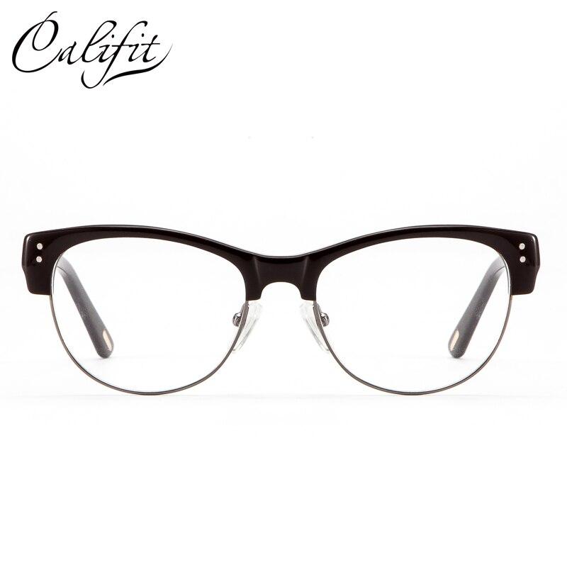 Design Mode Dioptrien Brillen Rahmen Photochrome C2 Gläser Original Frauen Brille Califit Linsen Korrektur c3 Myopie Halb 8Rd8wq
