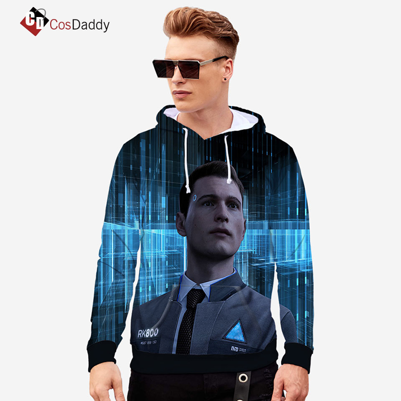 Detroit Become Human Coat  Sweater  Android Bryan Dechart RK800  Cosplay Costume CosDaddy