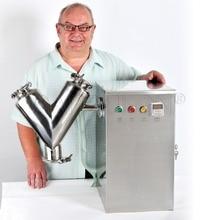 Warehouse in USA Powder Mixing Machine,Laboratory Mixer Machine, V-20 Mini Powder Mixer,Powder Blending Machine (110V 60HZ)