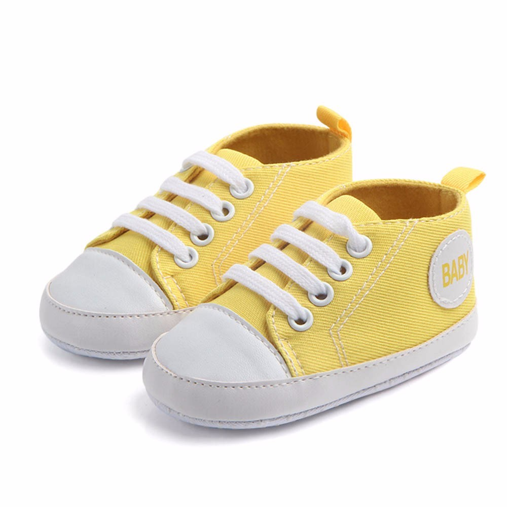 2018 Newborn shoe sole for doll Infant Baby Boys Girls Solid Canvas Anti-slip Soft Shoes Sneaker baby born doll shoes ###