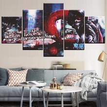 Home Decor Wall Art Picture 5 Panel Anime In City Tokyo Ghoul Mask Ken Kaneki Poster For Living Room Modern Abstract Painting