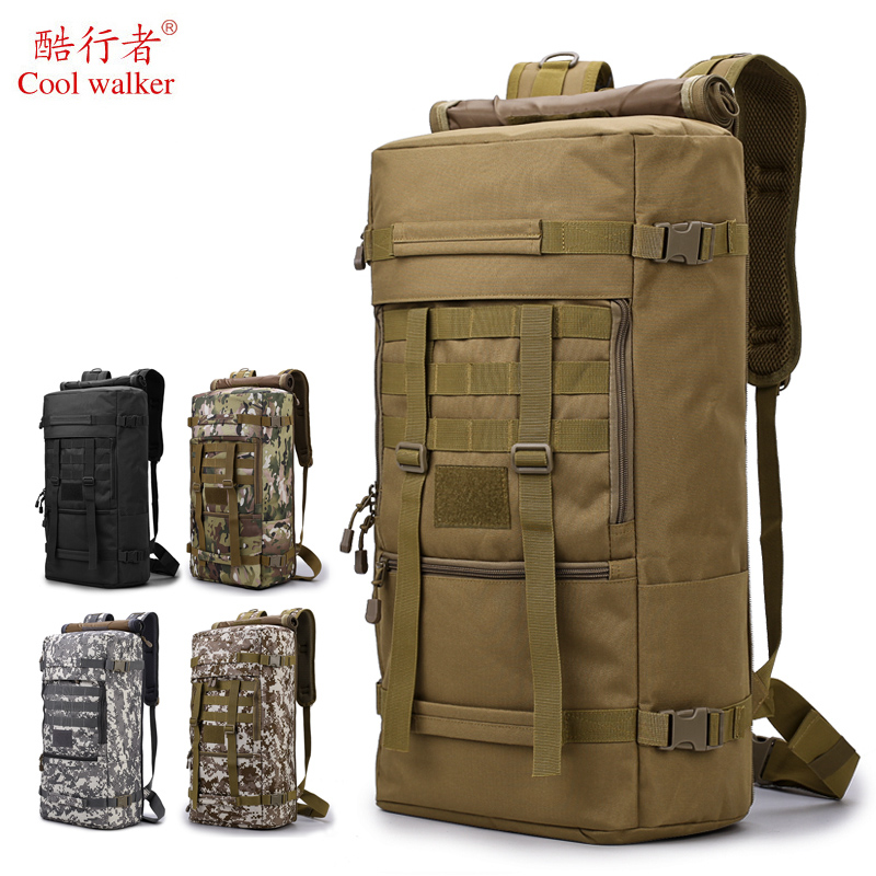 Sac à dos tactique 50L sacs d'extérieur hommes militaire randonnée Camping chasse sac à dos Camo sac à bandoulière voyage sac de Trekking