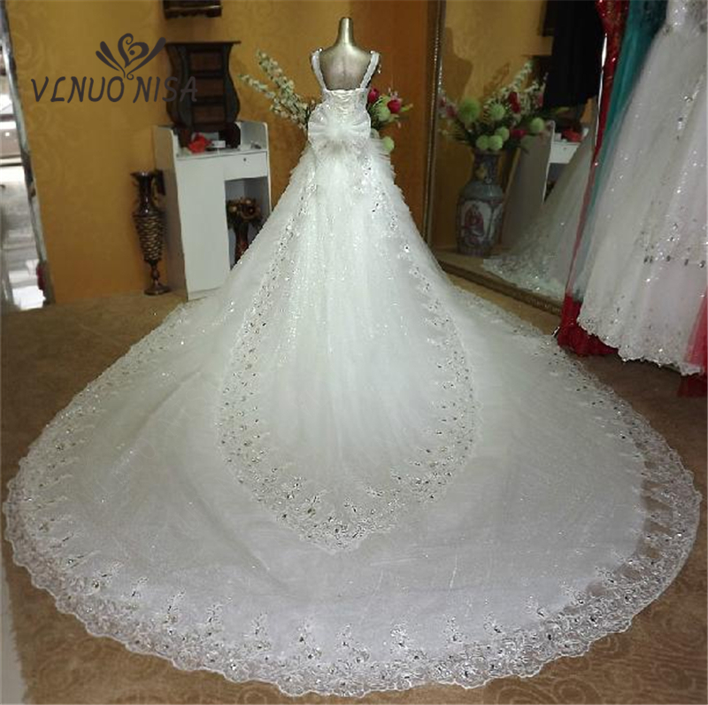 V Neck Wedding Dress 2018 New Fashion Gowns Bride Married