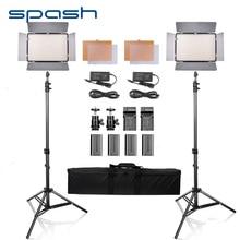 Spash led fotografia luz 2 conjuntos de luz de vídeo 5500k luz do dia com tripé luz da câmera para youtube atirar luz de preenchimento painel luz