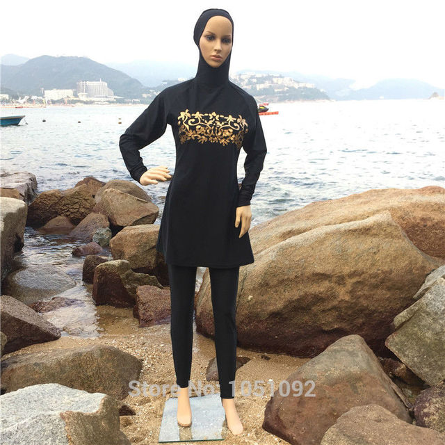 989bcc91194 5PCS Full Coverage Modest Muslim Swimwear Islamic Swimsuit For Women Arab  Beach Wear Muslim Hijab Swimsuits Plus Size