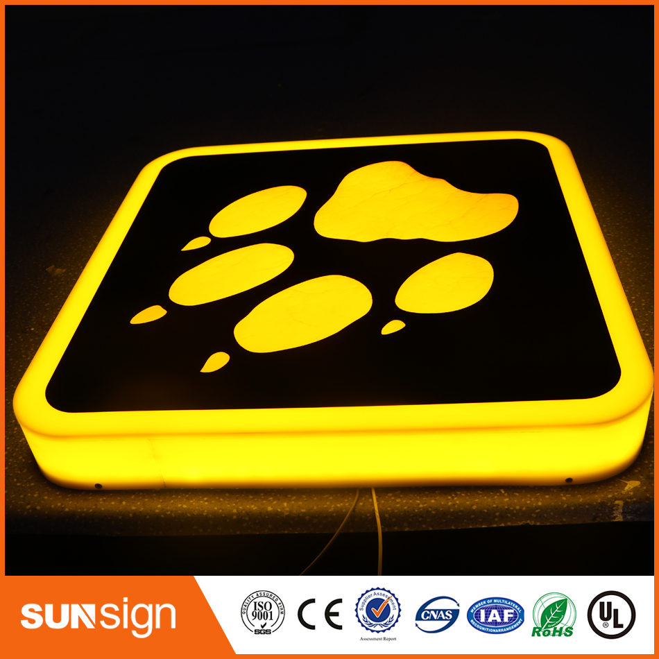 All Solid Frontlit LED Channel Letters Box Acylic Room Number Sign
