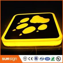 New design custom outdoor wall mount led light box sign