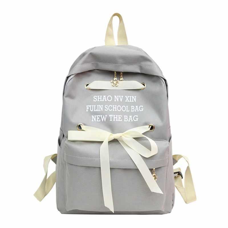 3564e63ecaf5 Подробнее Обратная связь Вопросы о Модная парусиновая Для женщин лук Рюкзаки  Mochilas Рюкзаки туристические сумки для ноутбуков высокое качество ...