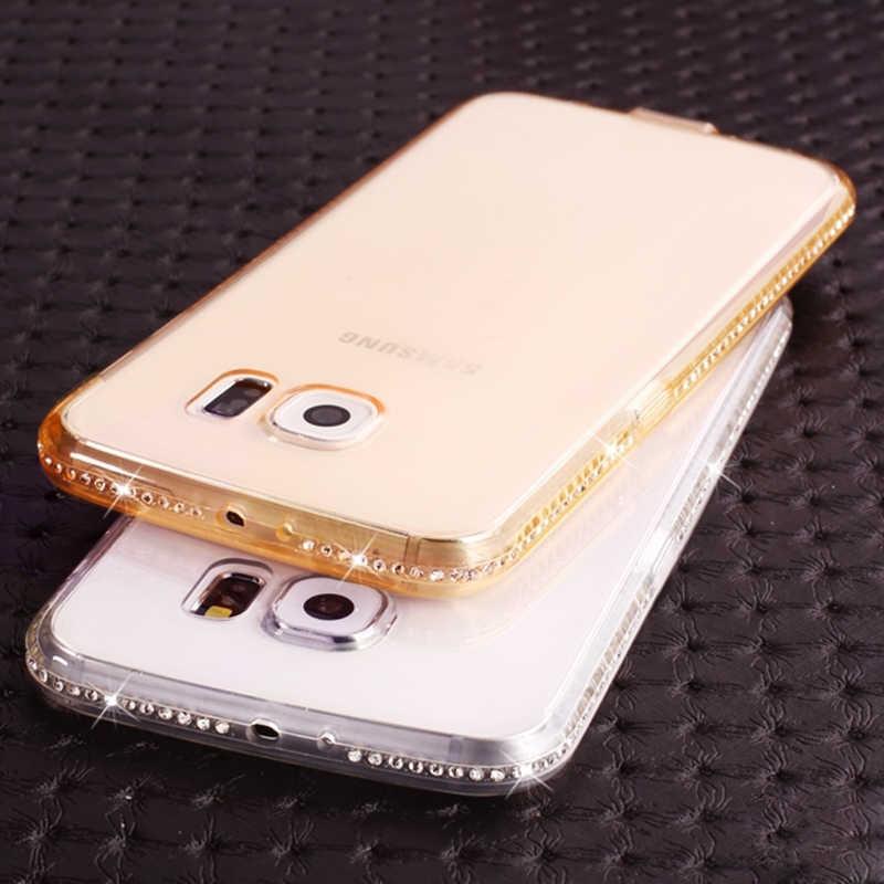 Бриллиант Прозрачный чехол для samsung Galaxy S8 S9 плюс S6 S7 край J2 Prime J7Neo J5 2016 A5 A7 2017 J4 J6 J8 2018 Note 9 чехол-накладка