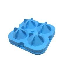 TAOXIBEI 4 Holes Big Diamonds Shape Ice Cube Molds Diamond Ice Cube Maker Silicone Diamond Cube Tray Eco-Friendly Ice Makers