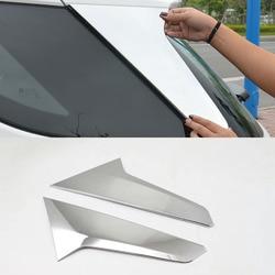 Para Chevrolet Equinox Terceiro GE 2017 2018 2019 ABS chrome guarnições lantejoulas vidro da janela Traseira Saqueador lado triângulo parte Moldagem 2 pcs