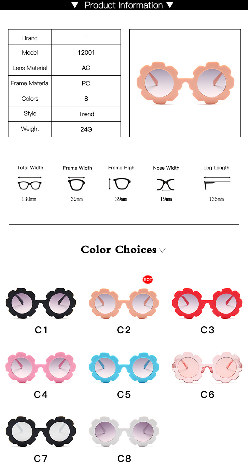 KARL New Sun Flower Children 39 s Sunglasses Cute Baby Comfortable Sunglasses Round Frame Flower Petals Polarized Sunglasses in Sunglasses from Mother amp Kids