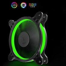 JONSBO RGB вентилятор 120 мм чехол для ПК Вентилятор охлаждения кулер солнечное Eclipse PLUS(FR601) 3PIN+ большой 4D источник питания материнская плата AURA SYNC