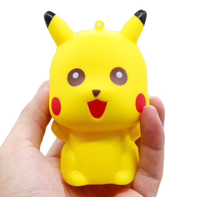 Jumbo Pikachu Squishy Cute Cartoon Doll Phone Straps Squeeze Toys Slow Rising Bread Scented Stress Relief Fun for Kid Gift ToyStress Relief Toy