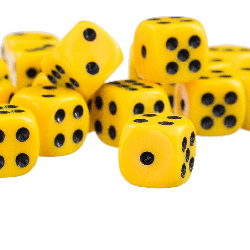 Jeux de dés à six faces 50x12mm D6 D & D RPG nouveau jeu de dés jaune