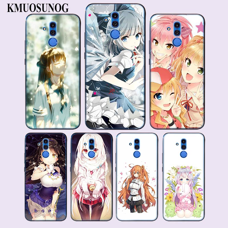 Transparent Soft Silicone Phone Case Kawaii Anime Girl Art Poster for Huawei Mate 20 10 Pro Lite Mate 20 Lite