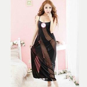 Image 4 - Hot New Black Plus Size XXL XXXL XXXXL 5XL 6XL Sexy Lingerie Nightgown Gown Long Babydoll Sleepwear,Sexy Dress For Sex Clothing