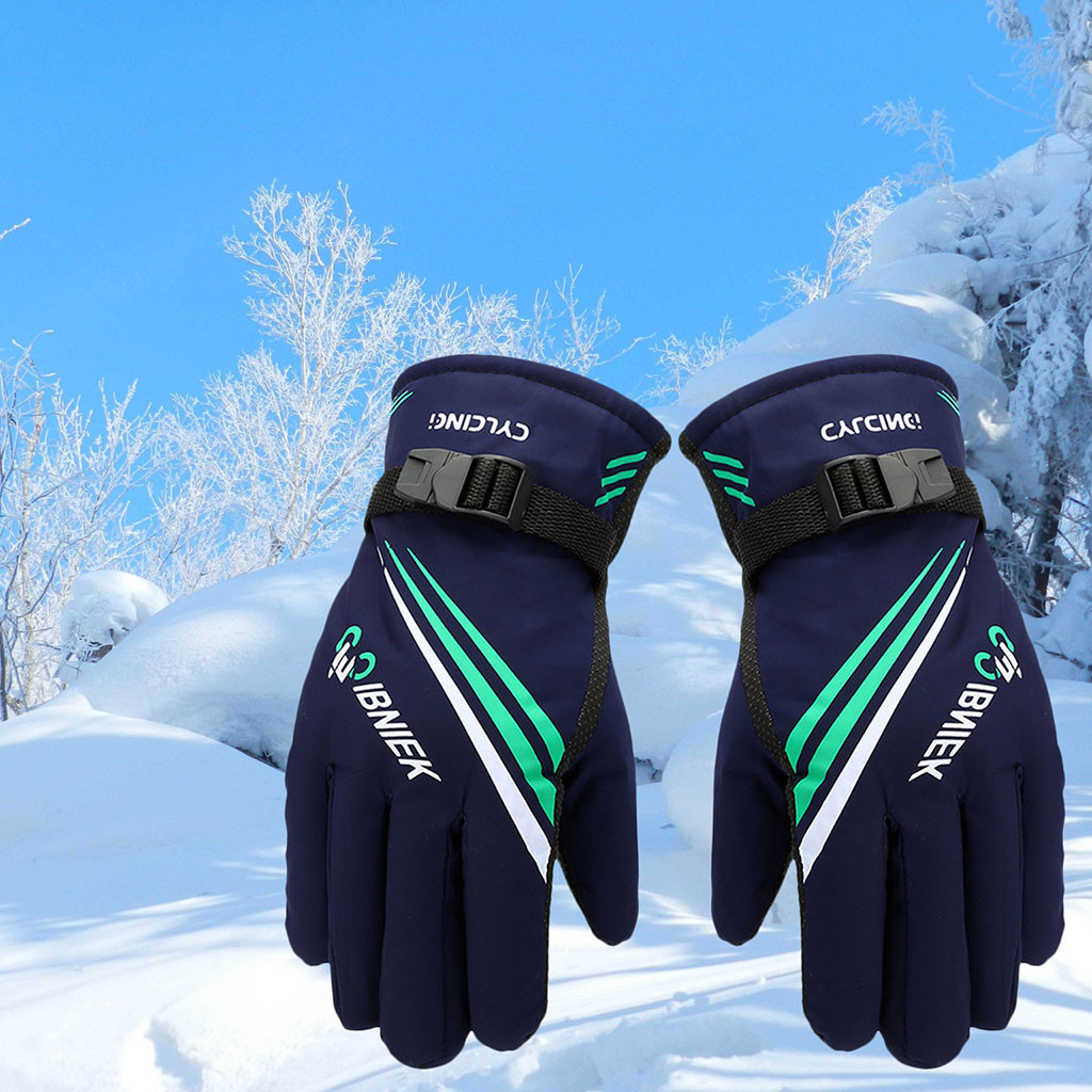 Men Winter Thermal Gloves Outdoor Motorcycle Riding Windproof Thicken Ski Waterproof fabric Gloves non-slip cloth#y10