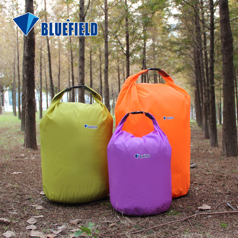 BLUEFIELD 10L/20L Outdoor Swimming Waterproof Bag Camping Rafting Storage Dry Bag With Ajustable Strap Hook Free Shipping