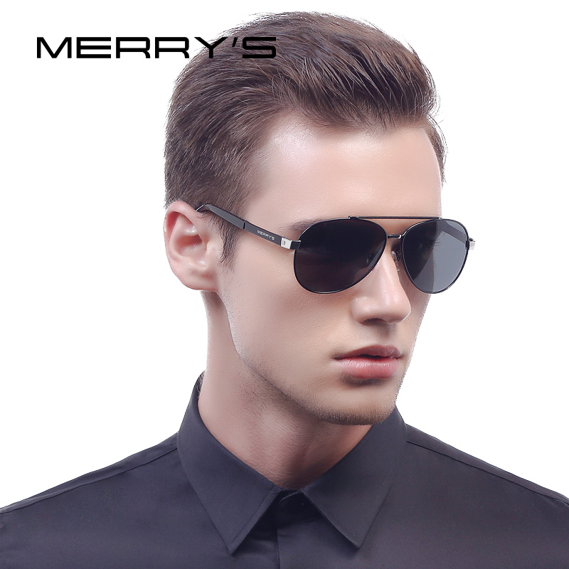 MERRY'S Men Classic Aviation Sunglasses HD Polarized Luxury Brand Design Aluminio Driving Gafas de sol S'8628